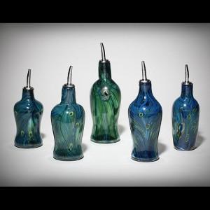 Peacock-cruets-set